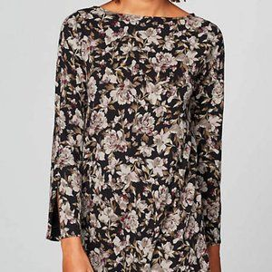 J.Jill Supima Boatneck A-Line Floral Tunic, M